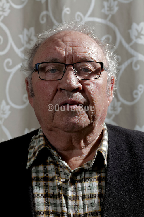 front view portrait of an 80 + year of age man