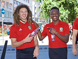 BUDAPEST, HUNGARY - Tuesday, June 11, 2019: Wales' Ethan Ampadu and Rabbi Matondo during a pre-match walk ahead of the UEFA Euro 2020 Qualifying Group E match between Hungary and Wales. (Pic by David Rawcliffe/Propaganda)