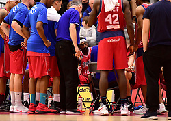 Hameed Ali of Bristol Flyers listens to a team talk  - Photo mandatory by-line: Joe Meredith/JMP - 18/11/2016 - BASKETBALL - SGS Wise Arena - Bristol, England - Bristol Flyers v Surrey Scorchers - British Basketball League