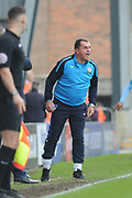 Barnet Manager, Martin Allen during the EFL Sky Bet League 2 match between Morecambe and Barnet at the Globe Arena, Morecambe, England on 28 April 2018. Picture by Mark Pollitt.