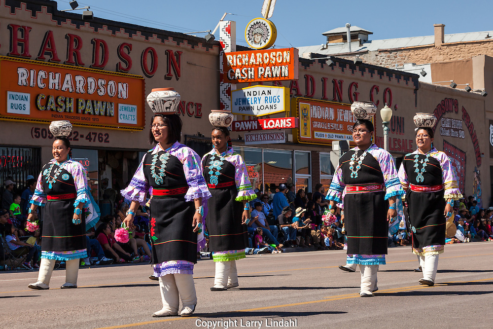 Gallup, Intertribal Ceremonial Parade, New Mexcio, Route 66, Zuni Olla Maidens,