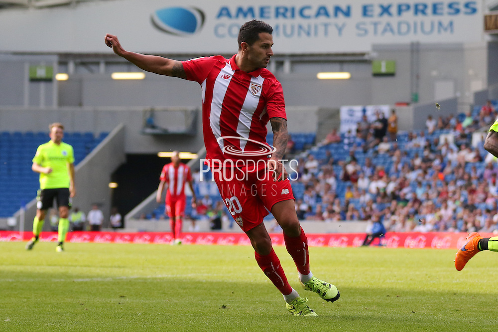 Vitolo of Sevilla during the Pre-Season Friendly match between Brighton and Hove Albion and Sevilla at the American Express Community Stadium, Brighton and Hove, England on 2 August 2015. Photo by Ellie Hoad.