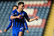 GOAL Ian Henderson celebrates scoring 1-0 during the EFL Sky Bet League 1 match between Rochdale and Charlton Athletic at Spotland, Rochdale, England on 27 October 2018.