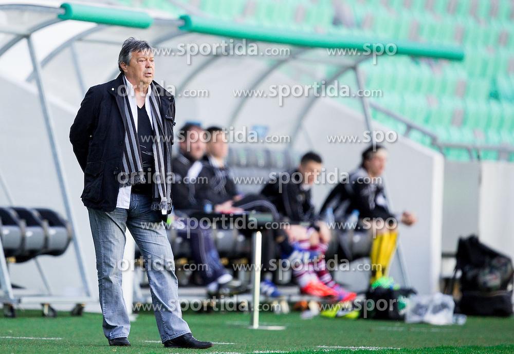 Milorad Kosanovic, head coach of Olimpija during football game between NK Olimpija Ljubljana and ND Triglav Kranj in 24th Round of Prva liga Telekom Slovenije 2013/14, on March 29, 2014 in SRC Stozice, Ljubljana, Slovenia. Photo by Vid Ponikvar / Sportida