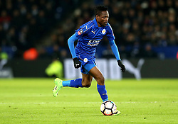 Ahmed Musa of Leicester City runs with the ball - Mandatory by-line: Robbie Stephenson/JMP - 08/02/2017 - FOOTBALL - King Power Stadium - Leicester, England - Leicester City v Derby County - Emirates FA Cup fourth round replay