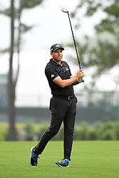 May 3, 2019 - Charlotte, NC, U.S. - SERGIO GARCIA tracks his ball on his shot on the fairway on 10 in round two of the Wells Fargo Championship at Quail Hollow Club in Charlotte, NC.  (Credit Image: © Dannie Walls/Icon SMI via ZUMA Press)