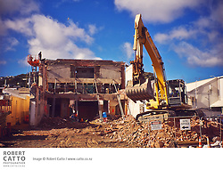 Construction at the Capitol Court Cinema in Miramar, in Wellington's Eastern Suburbs.