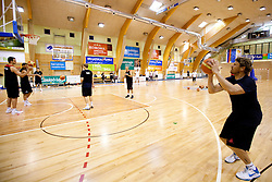 Miha Zupan during practice session of Slovenian National Basketball team during training camp for Eurobasket Lithuania 2011, on July 12, 2011, in Arena Vitranc, Kranjska Gora, Slovenia. (Photo by Vid Ponikvar / Sportida)