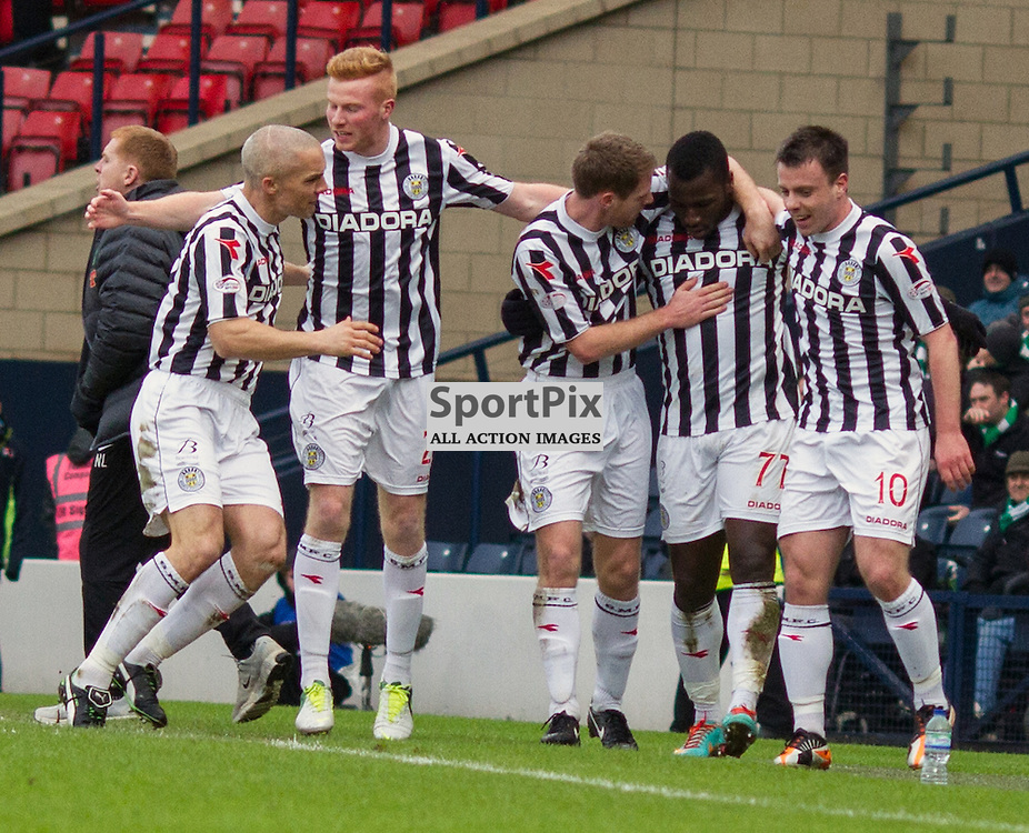 esmael goncalves celbrates his first goal with his team mates against celtic
