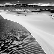 Dunescape - Mesquite Dunes - Death Valley, CA - Black & White