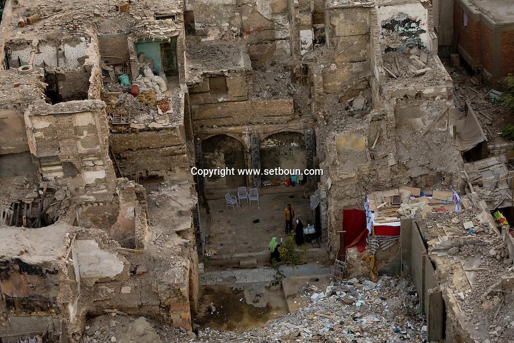 Egypt. Cairo -wakala - caravanserai - destroyed in Khan el Khalili market. sharia Al Mu'izz LI DIN Allah street    islamic Cairo   NM37 +