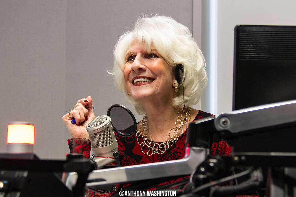 Diane Rehm, host of The Diane Rehm Show, responds with a huge smile while listening to comments from listeners and some surprise callers during her final show on Friday, December 23, 2017 at WAMU 88.5 in Washington, DC.