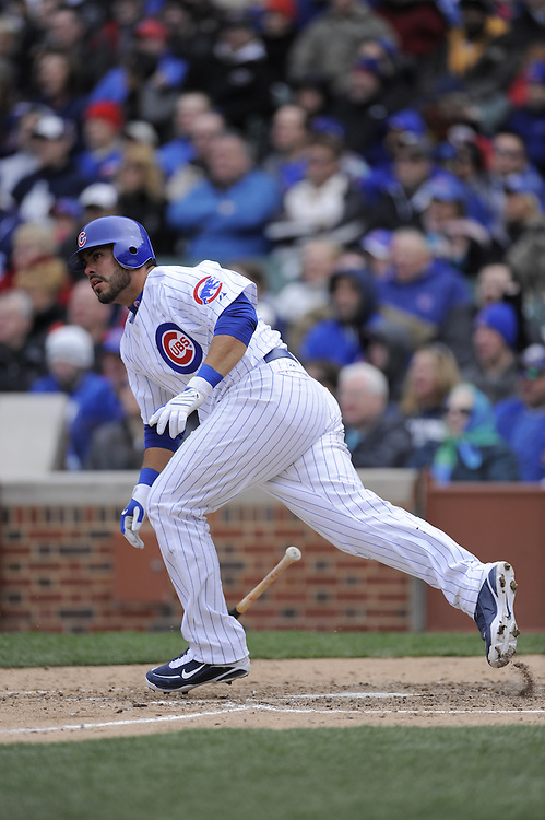 CHICAGO - APRIL 15:  Geovany Soto #18 of the Chicago Cubs bats against the Colorado Rockies on April 15, 2009 at Wrigley Field in Chicago, Illinois.  All players wore number 42 on this day only in honor of Jackie Robinson.  The Rockies defeated the Cubs 5-2.  (Photo by Ron Vesely)