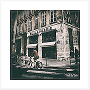 Boulangerie, Paris, France - Colour version. Inkjet pigment print on Canson Infinity Rag Photographique 310gsm 100% cotton museum grade Fine Art and photo paper.<br />