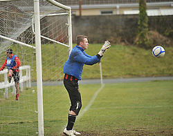 Westport United's goalkeeper Gary Cunningham during the Warm-up at the sportspark Westport.<br /> Pic Conor McKeown