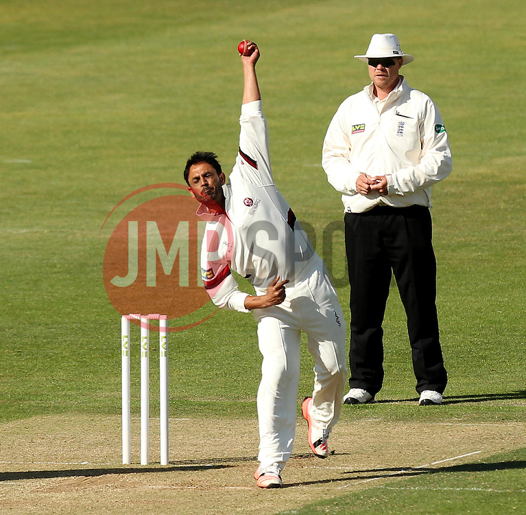 Somerset's Abdur Rehman bowls - Photo mandatory by-line: Robbie Stephenson/JMP - Mobile: 07966 386802 - 22/06/2015 - SPORT - Cricket - Southampton - The Ageas Bowl - Hampshire v Somerset - County Championship Division One