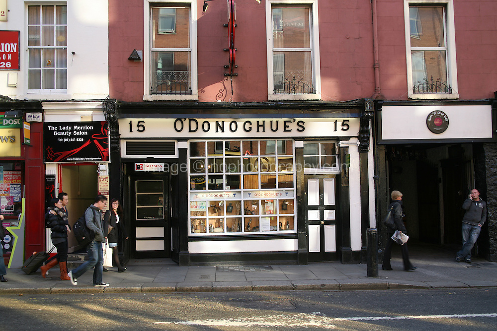 O'Donoghues traditional Irish pub on Baggot Street Dublin Ireland known for its  traditional music sessions