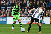 Forest Green Rovers Charlie Cooper(15) on the ball during the EFL Sky Bet League 2 match between Notts County and Forest Green Rovers at Meadow Lane, Nottingham, England on 7 October 2017. Photo by Shane Healey.