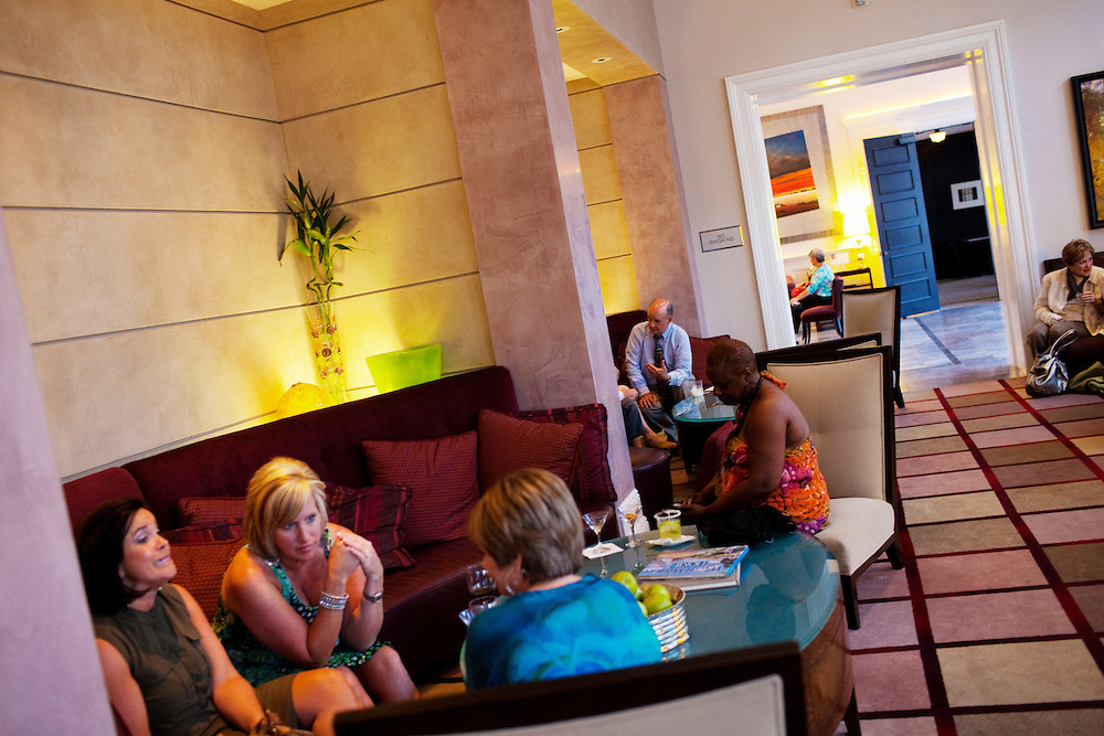 Happy hour at The Alluvian Hotel on Thursday, May 26, 2011 in Greenwood, Mississippi.