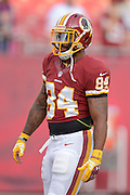 Washington Redskins tight end Niles Paul (84) prior to an NFL preseason game against the Tampa Bay Buccaneers at Raymond James Stadium on Aug. 29, 2013 in Tampa, Florida. <br /> <br /> &copy;2013 Scott A. Miller