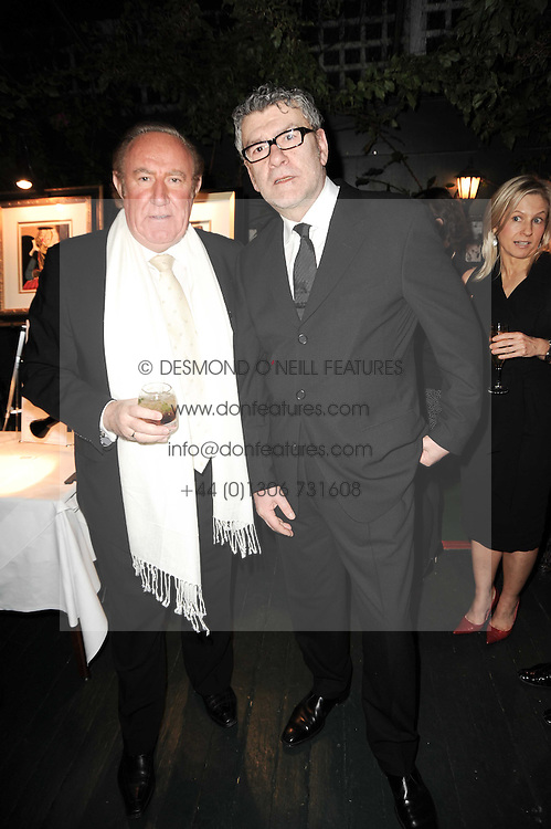 Left to right, ANDREW NEIL and JACK VETTRIANO at the Johnnie Walker Blue Label Great Scot Award 2010 in association with The Spectator and Boisdale held at Boisdale of Belgravia, 22 Ecclestone Street, London SW1 on 24th February 2010.