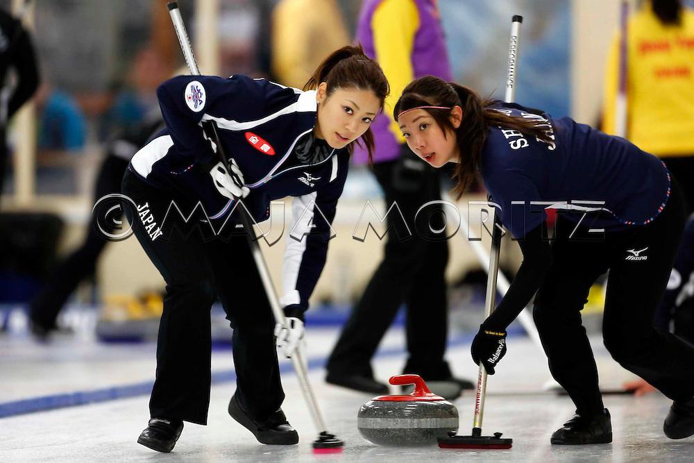 Japanese Women's Team, Miyo ICHIKAWA and Emi SHIMIZU (R)..