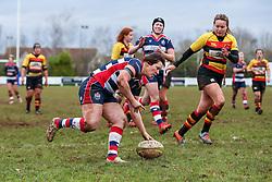 Marlie Packer of Bristol Ladies scores a try - Rogan Thomson/JMP - 15/01/2017 - RUGBY UNION - Cleve RFC - Bristol, England - Bristol Ladies Rugby v Richmond WRFC - RFU Women's Premiership.