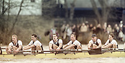 London, Great Britain, <br /> Oxford UBC. Bright to left. MF BONHAM, EB LILLEAHI, Ian WEIGJELL, Dan SNOW, Brian PALM. <br /> 147th Oxford vs Cambridge Varsity Boat Race, Over the Championship Course, Putney To Mortlake. 24.03.2001<br /> <br /> [Mandatory Credit: Peter SPURRIER/Intersport Images]<br /> <br /> Crews. [Mandatory Credit; Peter SPURRIER/Intersport Images]<br /> <br /> 20010324 University Boat Race, Putney to Mortlake, London, Great Britain.