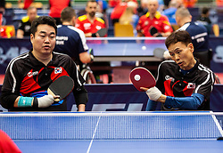 PARK Sung Joo and NAM KiWon (KOR) during Team events at Day 4 of 16th Slovenia Open - Thermana Lasko 2019 Table Tennis for the Disabled, on May 11, 2019, in Dvorana Tri Lilije, Lasko, Slovenia. Photo by Vid Ponikvar / Sportida