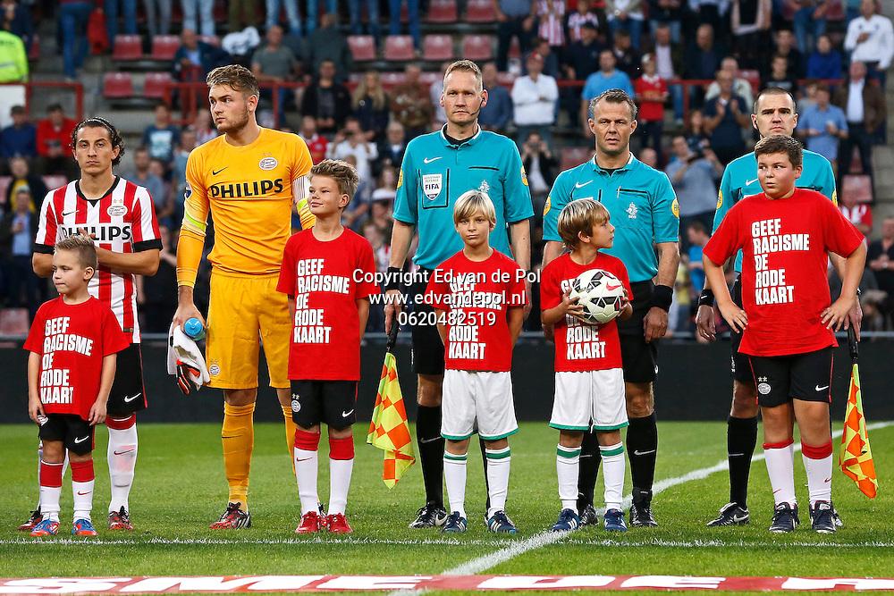 ALKMAAR - 18-10-2014 - PSV - AZ, Philips Stadion, 3-0, geef racisme de rode kaart.