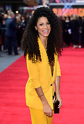 Vick Hope attending the European premiere of Rampage, held at the Cineworld in Leicester Square, London