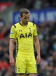 Tottenham Hotspur's Harry Kane cuts a dejected figure - Photo mandatory by-line: Dougie Allward/JMP - Mobile: 07966 386802 - 09/05/2015 - SPORT - Football - Stoke - Britannia Stadium<br />  - Stoke v Tottenham Hotspur - Barclays Premier League