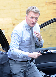 New Manchester Utd manager David Moyes arrives at the Cambridge Union debating society to give a talk on leadership, UK. May 13 2013.Photo by: Matthew Power / i-Images.<br /> File Photo - David Moyes, Manchester United manager sacked by club. Photo filed Tuesday, April 22nd  2014.