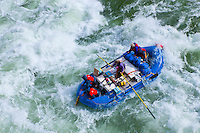 Whitewater rafting, Upset Rapid, Grand Canyon, Grand Canyon National Park, Arizona USA