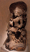Siva Vyakhyana Dakshinamurti. 14th - 15th century Dravidian  granite sculpture from Tamil Nadu, India