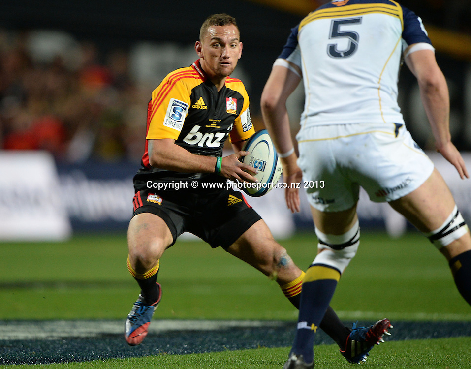 Aaron Cruden. Super Rugby Final. Chiefs v Brumbies. Waikato Stadium, Hamilton, New Zealand on Saturday 3 August 2013. Photo: Andrew Cornaga/www.Photosport.co.nz
