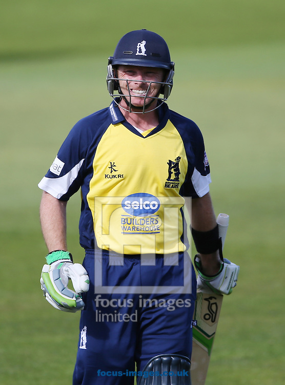 Ian Bell of Birmingham Bears leaves the field after being caught out during the Natwest T20 Blast match at Emirates Durham ICG, Chester-le-Street<br /> Picture by Simon Moore/Focus Images Ltd 07807 671782<br /> 06/06/2015