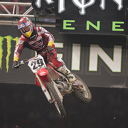 14 March 2009: Andrew Short (29) gains air during the Monster Energy AMA Supercross race at the Louisiana Superdome in New Orleans, Louisiana