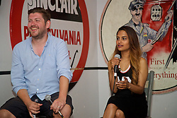 LOS ANGELES, USA - Tuesday, July 26, 2016: Paul Machin and Melissa Reddy during an Anfield Wrap live podcast on day six of Liverpool FC's USA Pre-season Tour. (Pic by David Rawcliffe/Propaganda)