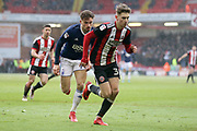 Enda Stevens of Sheffield United (3) during the EFL Sky Bet Championship match between Sheffield United and Nottingham Forest at Bramall Lane, Sheffield, England on 17 March 2018. Picture by Mick Haynes.
