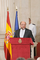24.06.2015, Palacio Real, Madrid, ESP, Festakt zu 30 Jahre EU Mitgliedschaft Spaniens, im Bild Martin Schulz President of the European Parliament during // attends the 30th Anniversary of Spain being part of European Communities at the Palacio Real in Madrid, Spain on 2015/06/24. EXPA Pictures © 2015, PhotoCredit: EXPA/ Alterphotos/ POOL/ Ricardo Garcia<br /> <br /> *****ATTENTION - OUT of ESP, SUI*****