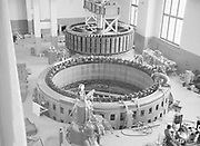 Installation of hydro electric generator, Finland, 1920s-1940s