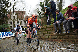 Riejanne Markus (NED) on Muur van Geraardsbergen at Omloop Het Nieuwsblad - Elite Women 2019, a 122.9 km road race from Gent to Ninove, Belgium on March 2, 2019. Photo by Sean Robinson/velofocus.com