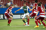 FRISCO, TX - JUNE 26:  Ryan Johnson #9 of the Portland Timbers is swarmed by FC Dallas defenders on June 26, 2013 at FC Dallas Stadium in Frisco, Texas.  (Photo by Cooper Neill/Getty Images) *** Local Caption *** Ryan Johnson