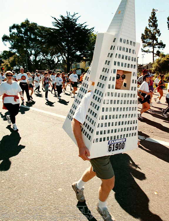 Nick Isaak of San Francisco attended the 87th running of the Bay to Breakers through the City as one of its most recognizable landmarks, Sunday May 17, 1998. (Photo by D. Ross Cameron)