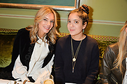 Left to right, KIM HERSOV and NOOR FARES at a lunch hosted by Mary Katranzou to celebrate her LFW AW 2016 collection at Mark's Club, London on 23rd February 2016.