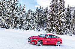 02.01.2018, Seefeld, AUT, FIS Weltcup Ski Sprung, Vierschanzentournee, Innsbruck, im Bild Audi S5 während eines Medientermins des DSV // a Audi S 5 during a Media Event of the German Skijumping Team before the 3rd Stage Insbruck of the Four Hills Tournament of FIS Ski Jumping World Cup at Seefeld, Austria on 2018/01/02. EXPA Pictures © 2018, PhotoCredit: EXPA/ JFK