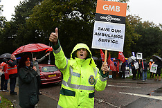 OCT 13 2014 National NHS strike by Health Workers over pay 131014