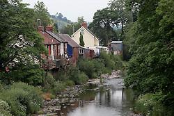 UK ENGLAND WALES LLANFAIR CAREINION 1JUL15 - The river Banwy flows through the Welsh town of Llanfair Careinion in the river Severn catchment area.<br /> <br /> jre/Photo by Jiri Rezac / WWF UK<br /> <br /> © Jiri Rezac 2015