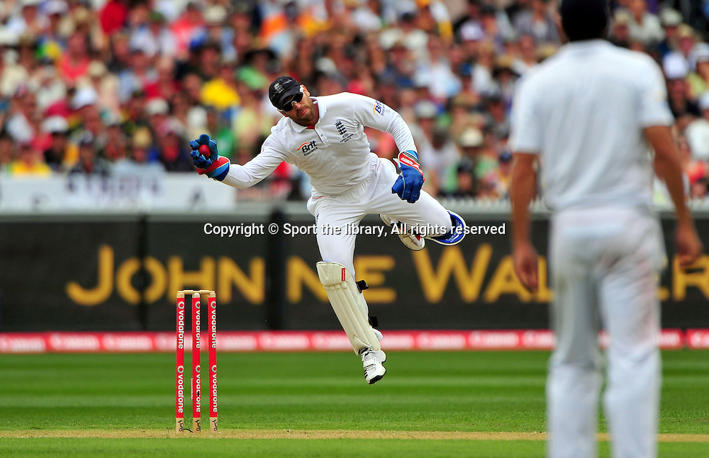 Matt Prior (ENG)<br /> Australia vs England<br /> Cricket - Ashes Test 3 / Melbourne<br /> Melbourne Cricket Ground / MCG<br /> Sunday 26 December 2010<br /> &copy; Sport the library/Jeff Crow